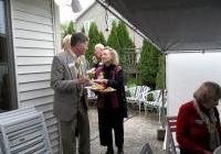 """Fred and Karen at WNPJ's """"Bring our war $$ home!"""" houseparty"""