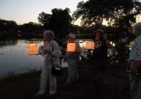 Lantern floating at Lanterns for Peace in Madison, August 6, 2012