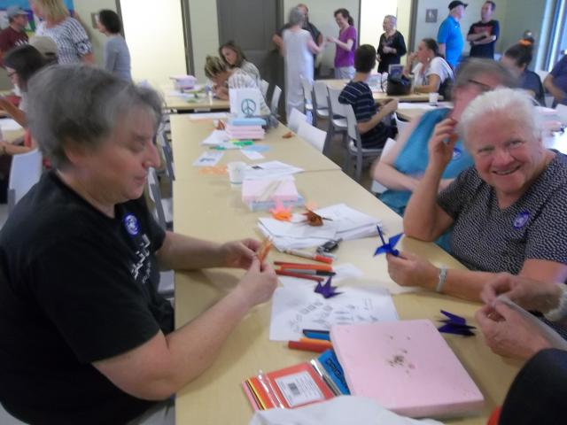 Lanterns for Peace, 8/6/13: making cranes