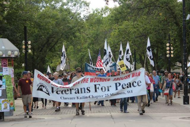 Chapter #25 banner at the Vets for Peace rally / national convention - August 2013