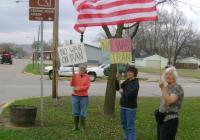 No War on Iran - vigil in Boscobel with Code Pink