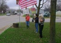 Code Pink Boscobel vigil for no war on Iran - March 19