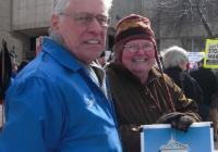 David Newby, AFL-CIO and Meg Skinner at the Peace Rally