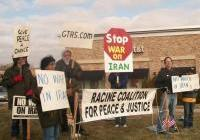Racine Stands for Peace - Feb. 2012 - No War on Iran