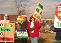 No to War on Iran - Rally in Racine.