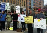 International Peace Activists at the Monday Noon Vigil in Madison, WI