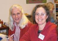 Jane Kavaloski and Vicky Berenson at the Quaker dinner