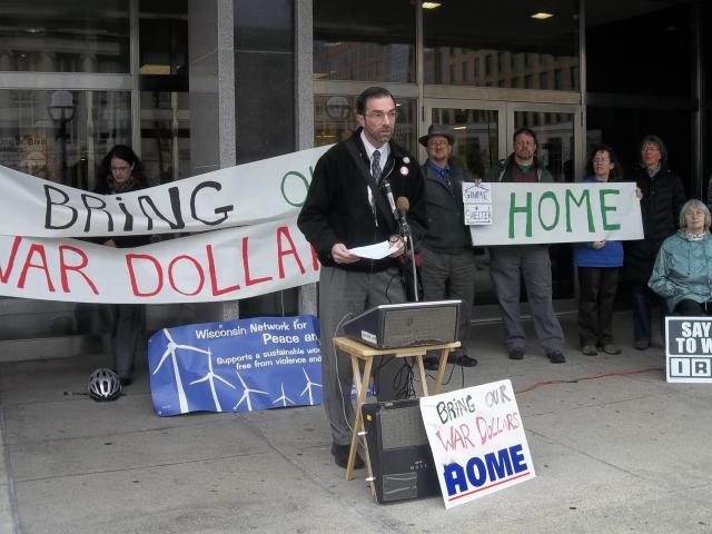 Dane County Bring Our War Dollars Home event - Oct 18, 2012