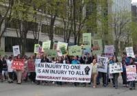May Day -  March for the poor, immigrants & workers in Madison - 2009