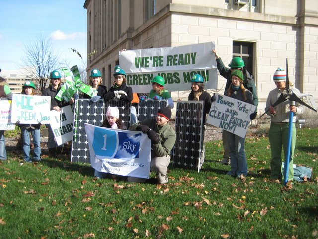 1sky - rally for Green Jobs - Madison Nov. 2008