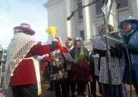The Raging Grannies sing at the Save Our Water - No Unsafe Mines rally at the Capitol, January 26, 2013