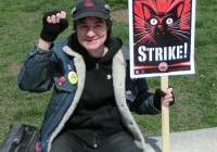 Ralph of Lakeside Press at the May Day Rally  - Madison