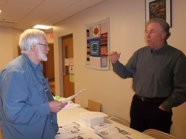 Rob Danielson tabling for SOUL of Wisconsin at the WNPJ Assembly in La Crosse, October 5, 2013