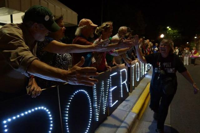 Overpass Light Brigade at the Vets for Peace national convention, August 2013
