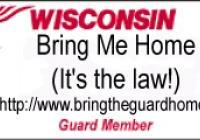 Bring the Guard Home (It's the law!)