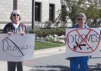 Bonnie Block and Char - drone protest