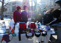 Food Not Bombs - food for anti-mining activists -
