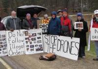 Volk Field vigil against killer drones - April 23, 2013