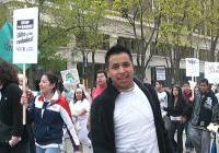 Marching up W.Washington on May Day - Madison 2009