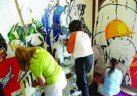 Making Union Murals in the Labor Temple - Madison