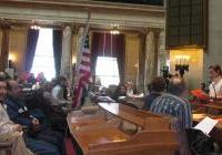 Christine Neumann-Ortiz addresses 700 at the Lobby Day - Madison. March 2009