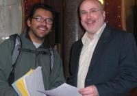 Mario and Rep. Mark Pocan - at the Lobby Day for In-state Tuition for Immigrants - March 2009